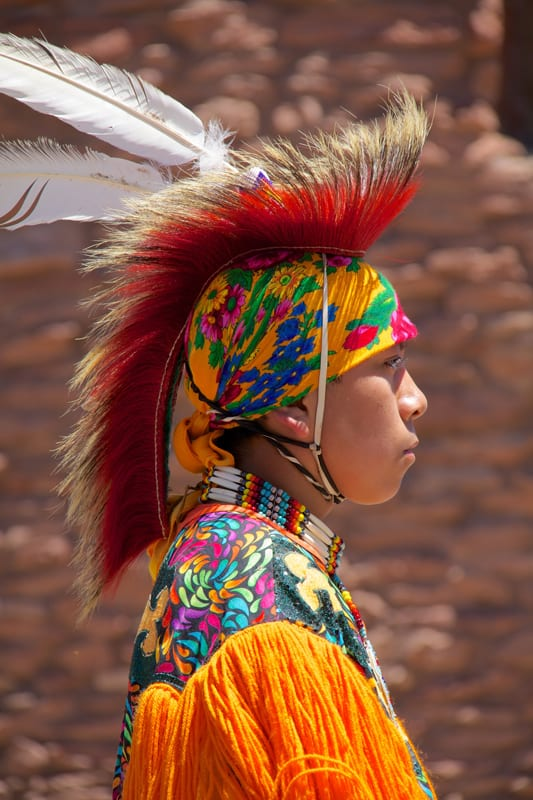 Native dancer at Grand Canyon