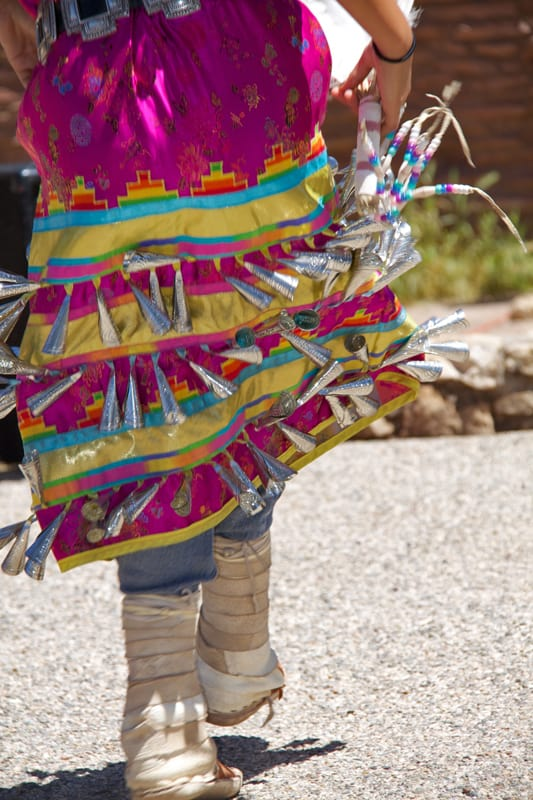 Jingle Skirt on Indigenous dancer Grand Canyon
