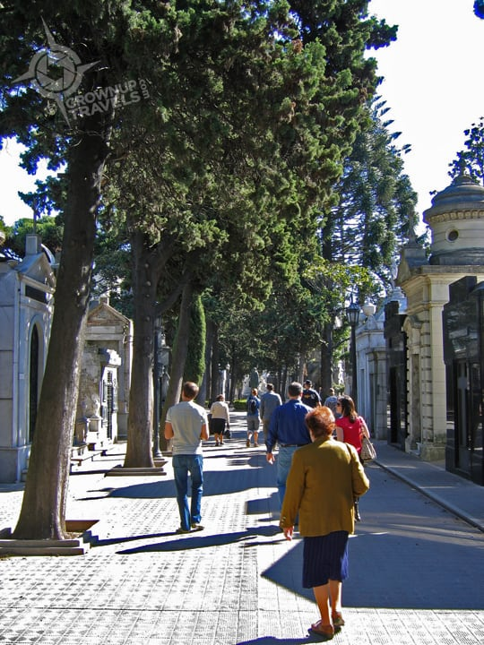 Strolling the streets among the living - and the dead.