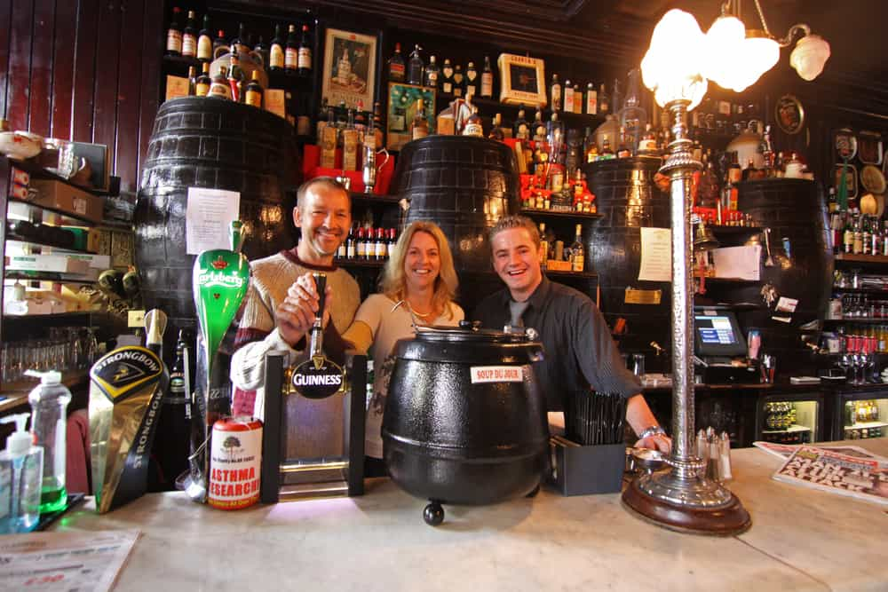 Getting behind the bar at William Blake's pub
