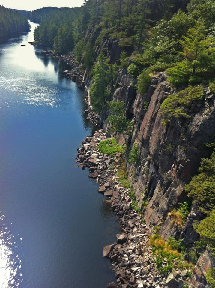 The cliff walls of the French River