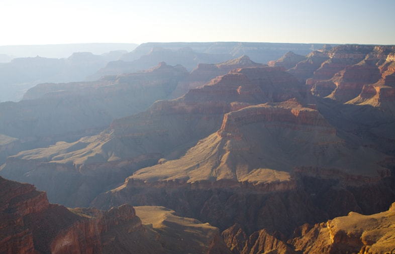 Grand Canyon sunset haze