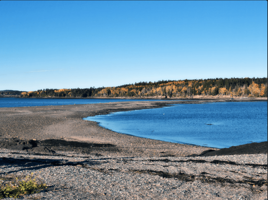 A short drive on an exposed sand bar takes you to Minister's Island, NB