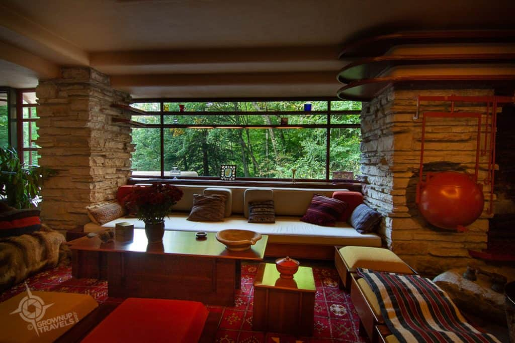 Fallingwater Living Room interior