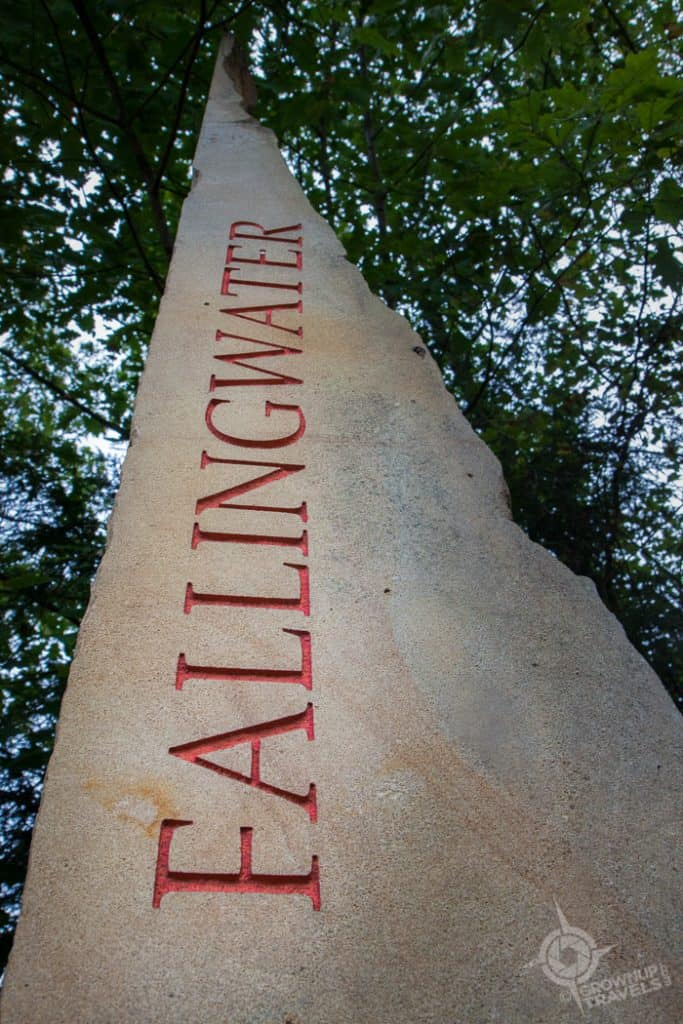 Fallingwater Sign on STone