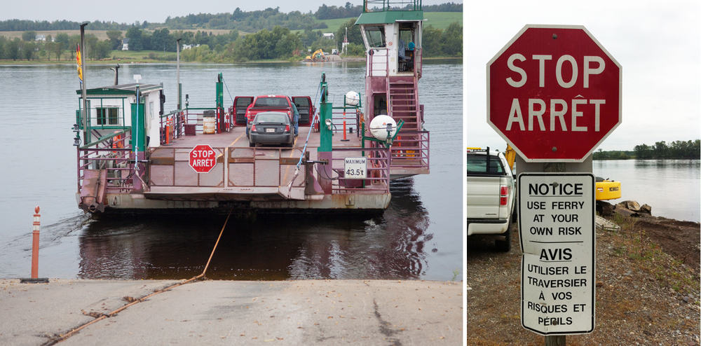 Crossing the Saint John river in New Brunswick via a simple cable ferry. For free!