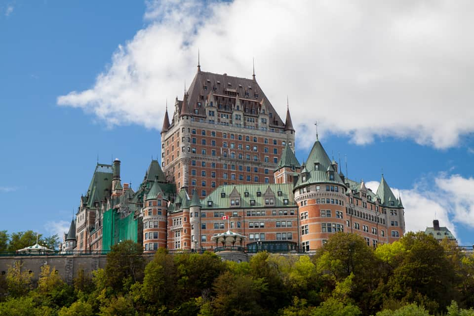 Great view of the Chateau Frontenac from the ferry dock