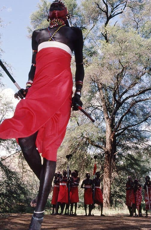 Maasai warriors, photo courtesy of Wikimedia