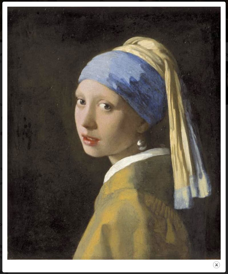 Vermeer's Girl with a Pearl Earring at the Frick museum until January 19, 2014