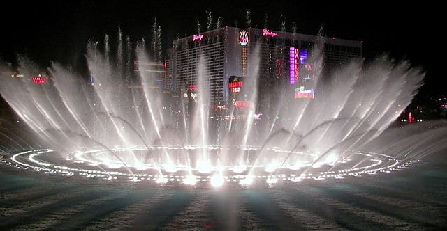 The Bellagio spared no expense on their elaborate fountain display. Your expense: $00.00.