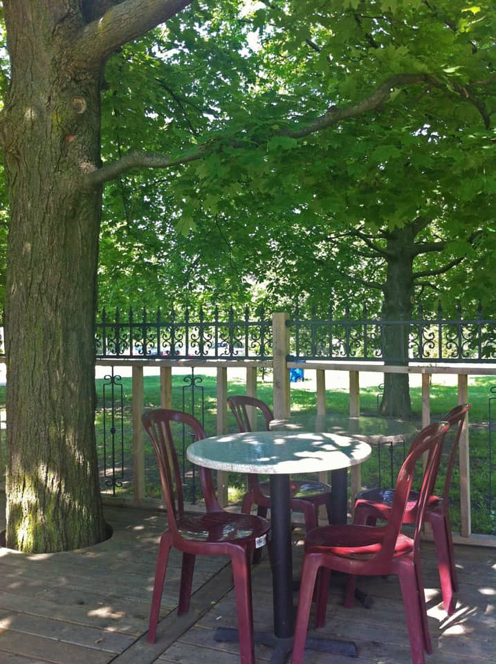 The Grenadier in High Park has the best summer patio for brunch.