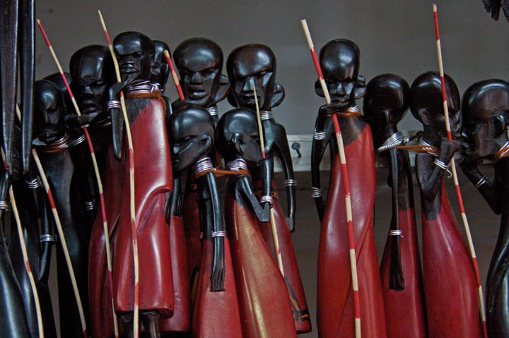 Masaai statuettes like these ones in Zanzibar all start to look the same when you're shopping for the unique.
