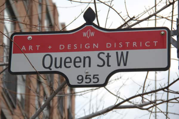 queen west sign
