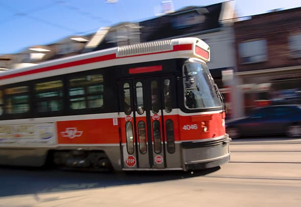 Queen's 501 Streetcar will take you nearly 15 miles from end to end.