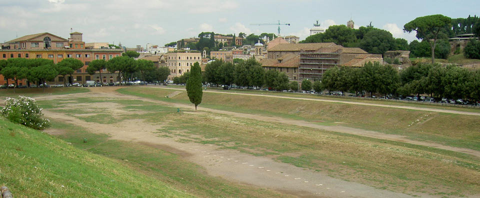 The Church is located near the far end of Circo Massimo (Circus Maximus) where chariot races were once held.