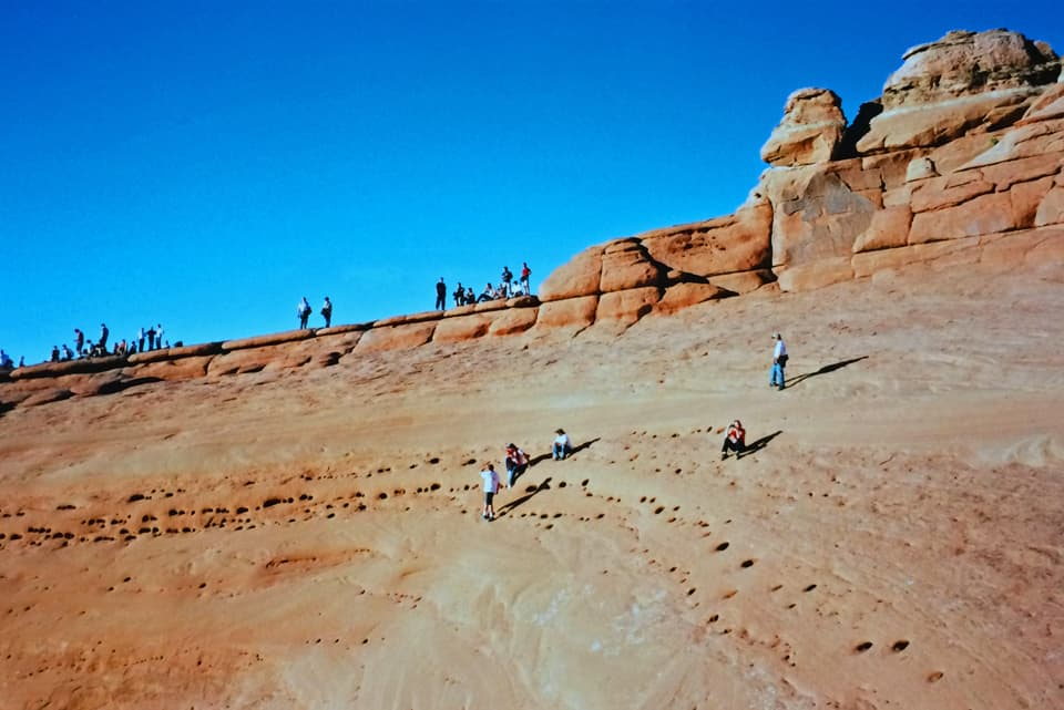 Waiting for sunset on the rim near Delicate Arch.