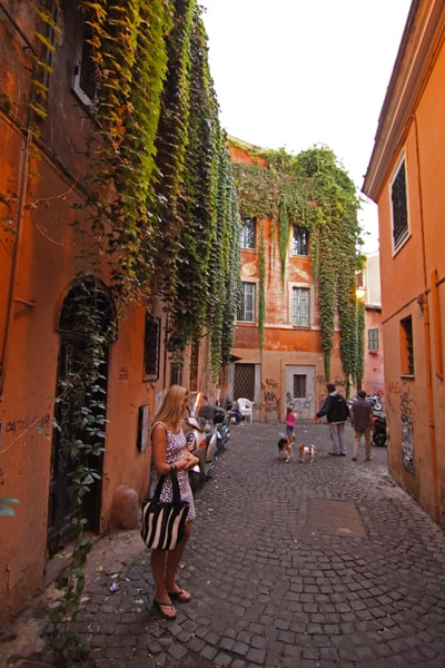 Smaller streets are the best way to explore Rome's neighbourhoods, and are safe to wander.