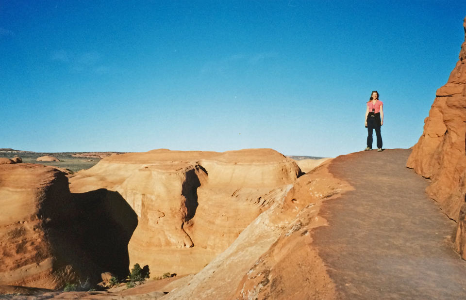 The last piece of the trail where just to the right it opens up to reveal the most incredible view of Delicate Arch.