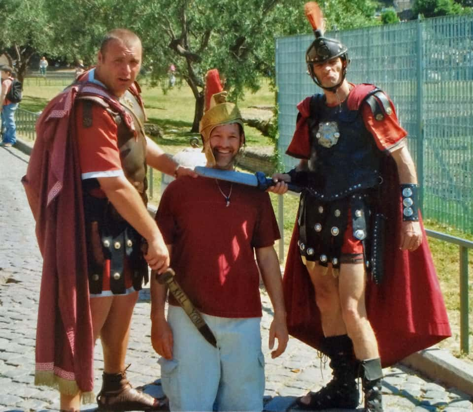 These Romans WILL charge you for their photo!