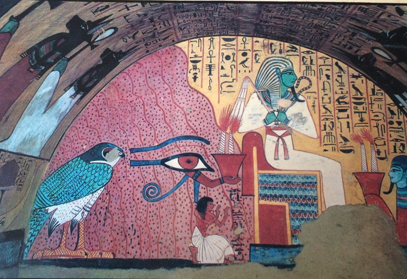 The decorations inside the tomb of Inherkhau, artistic supervisor of the Valley of the Kings.