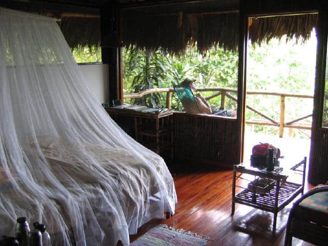 Lapa Rios eco-lodge in Corcovado. Luxurious bungalow/huts.