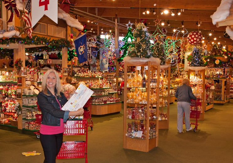 You'll need a map to navigate through Bronner's 90,000 square feet of Christmas!