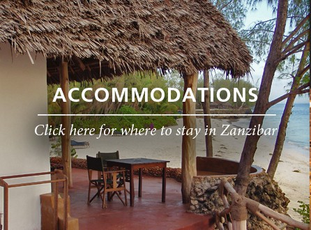 Accommodations Zanzibar