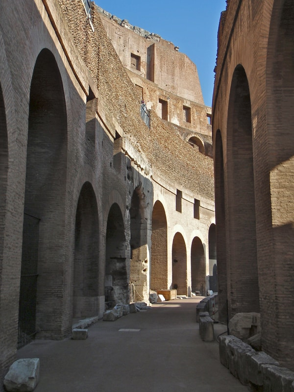 Rome Colosseo interior walkway