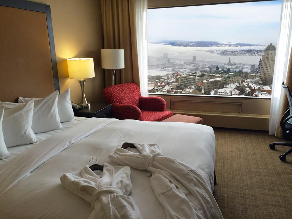 Hilton Quebec room with view