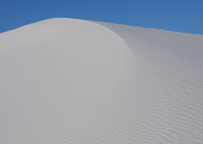 white dune on blue sky White Sands National Monument New Mexico