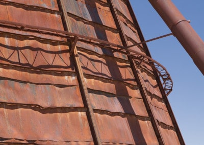rusted industrial tower New Mexico