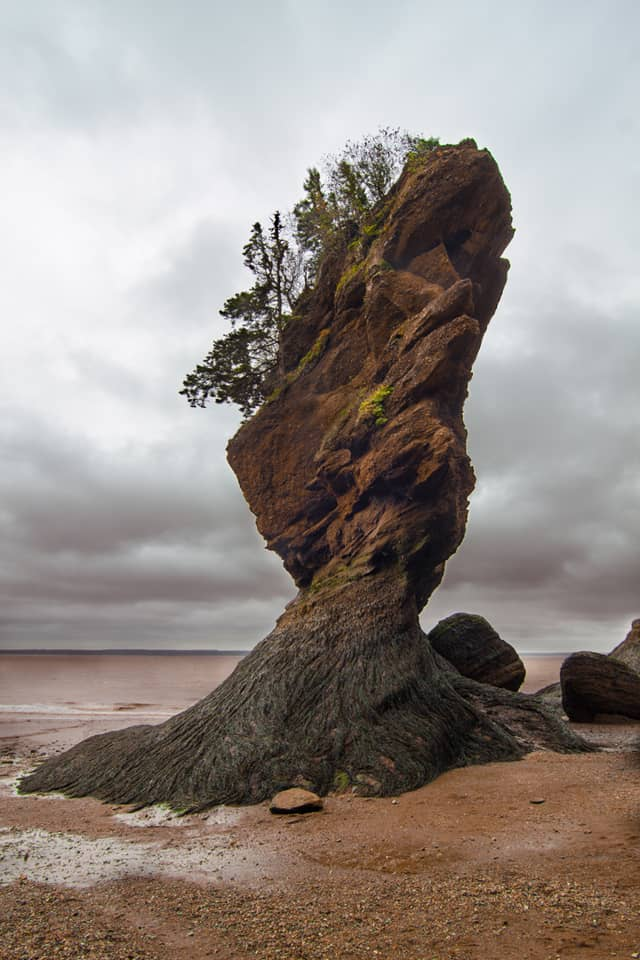 Maritimes Dramatic Rock Hopewell Cape