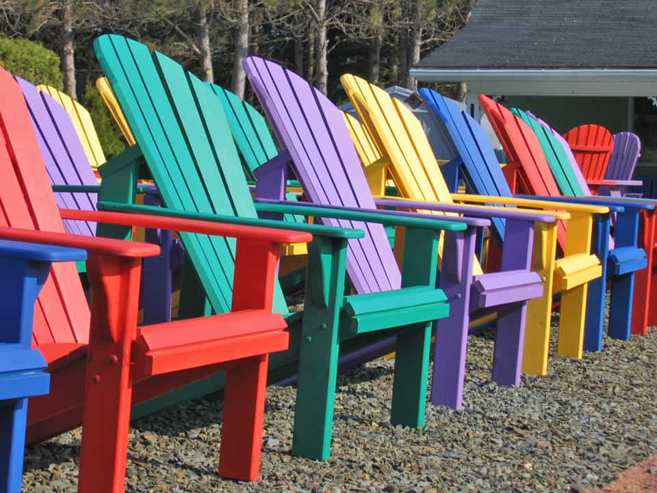 Maritimes NS colourful chairs