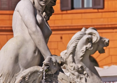sea nymph fountain Rome Piazza Navona