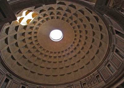 Rome Pantheon dome with oculus