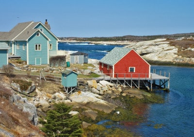 Peggys Cove houses Nova Scotia