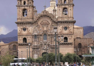 Church in Cusco Plaza Peru