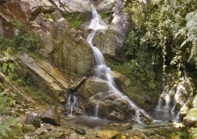 waterfall on the Inca Trail Peru