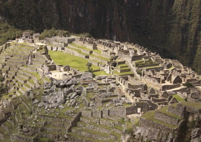 mountaintop terraces Machu Picchu Peru