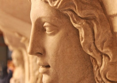 Rome sculpted head