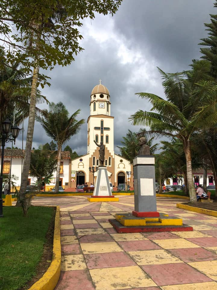 Colombia Salento church