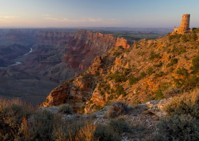 Arizona Sunset at the Watchtower Grand Canyon