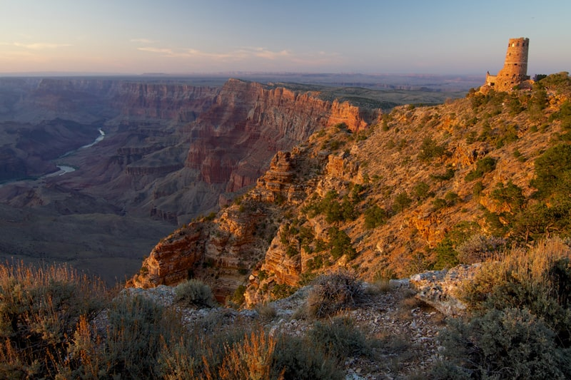 Sunset at the Watchtower, Grand Canyon