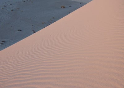 pink morning light on White Sands Dunes National Monument New Mexico