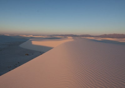 pink morning light White Sands National Monument New Mexico