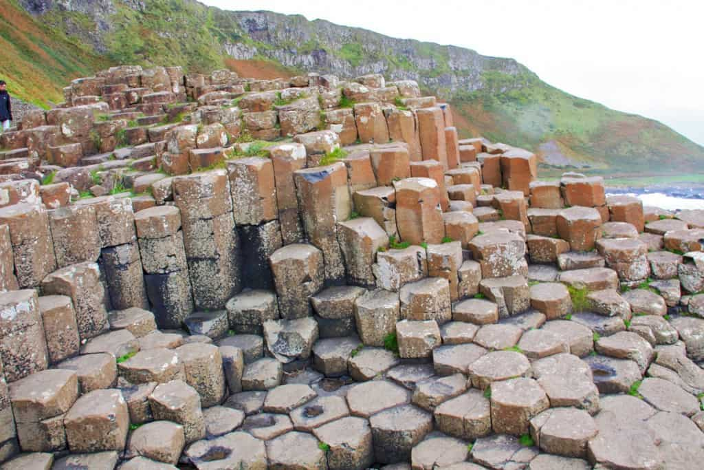 basalt rock formations at Giant's Causeway Northern Ireland