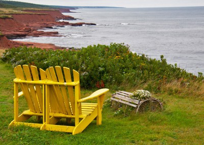 Maritimes PEI Chairs on cliff