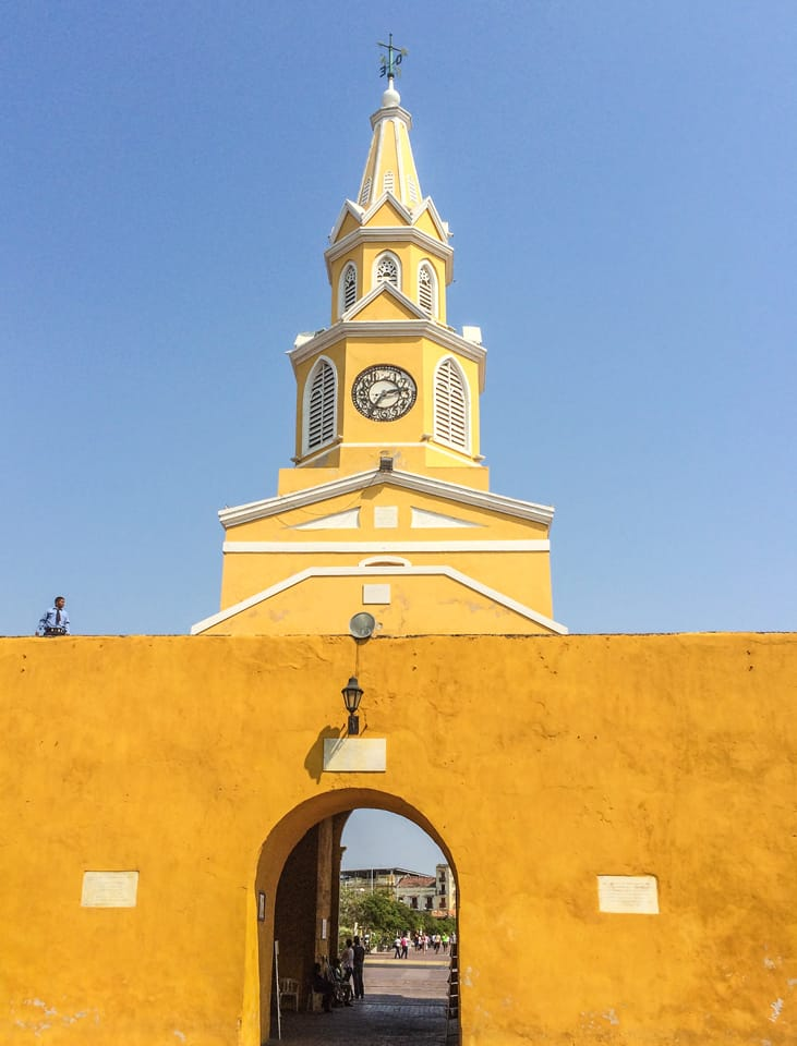 Colombia clock tower cartagena