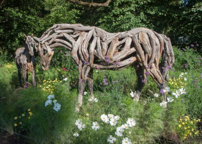 Montreal Botanical Exhibit - horse sculpture 2
