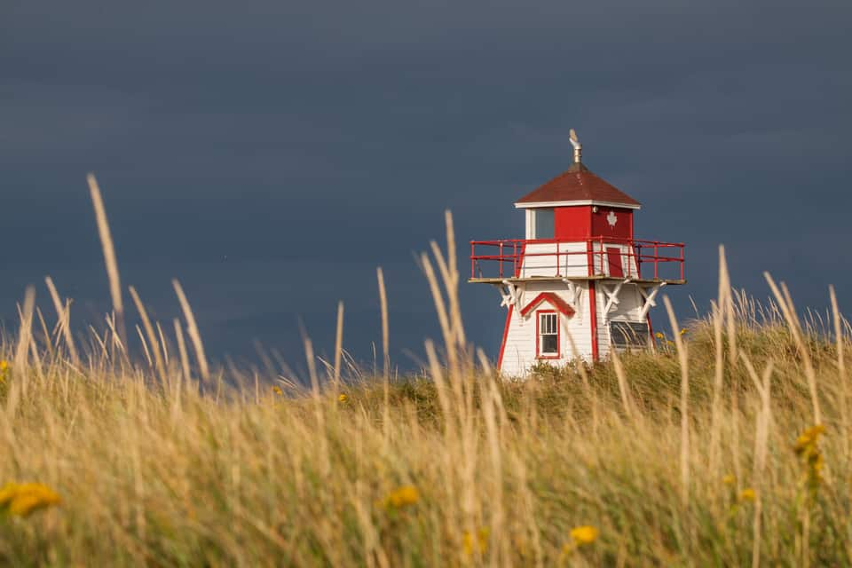 Maritimes PEI stormy light